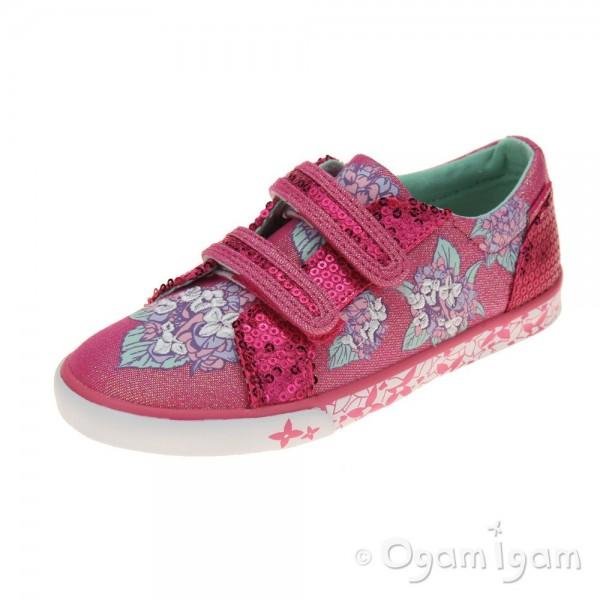 Start-rite Endless Summer Girls Pink Sparkle Canvas Shoe