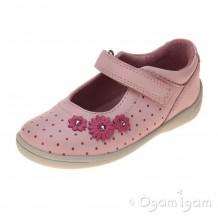 Start-rite Supersoft Daisy Girls Pale Pink/Bright Spot Shoe