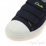 Clarks Club Halcy Inf Boys Navy Shoe