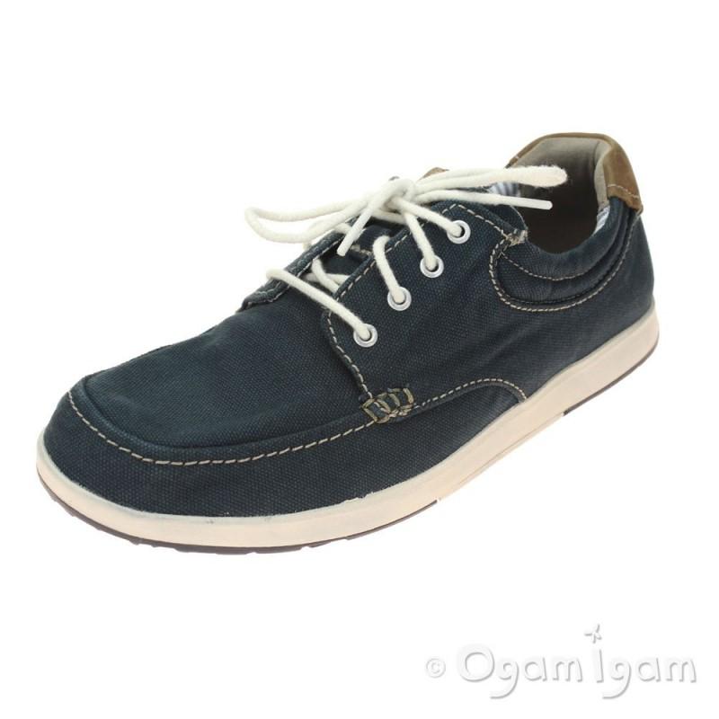 Clarks Norwin Vibe Mens Navy Canvas Shoe