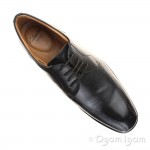 Clarks Gosworth Over Mens Black Shoe