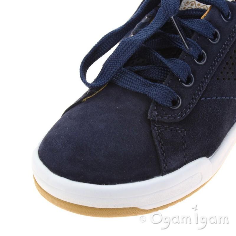 Geox Rolk Boys Navy/Brown Shoe