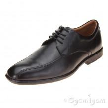 Clarks Gosworth Over Mens Black Shoe