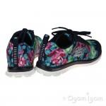 Skechers Flex Appeal Wildflowers Womens Navy/Multi Trainer