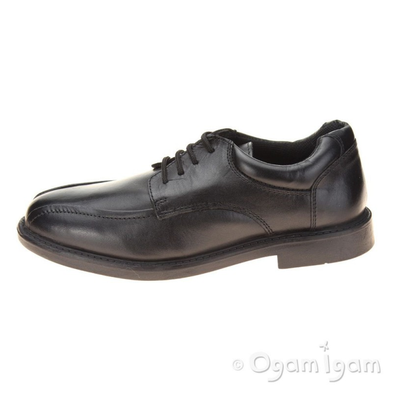 hush puppies bruce boys black school shoe ogam igam