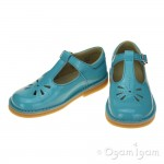 Start-rite Tea Party Girls Aqua Patent Shoe