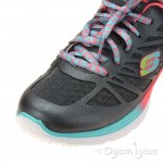 Skechers Valeris Firelite Girls Gunmetal Trainer