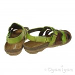 El Naturalista Torcal Womens Green Brown Sandal