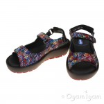 Wolky Rio Multi Black Womens Multi Black Sandal