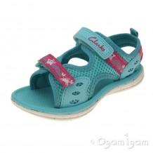 Clarks Star Games Fst Girls Turquoise Sandal
