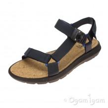 Clarks Pilton Brave Mens Navy Fabric Sandal
