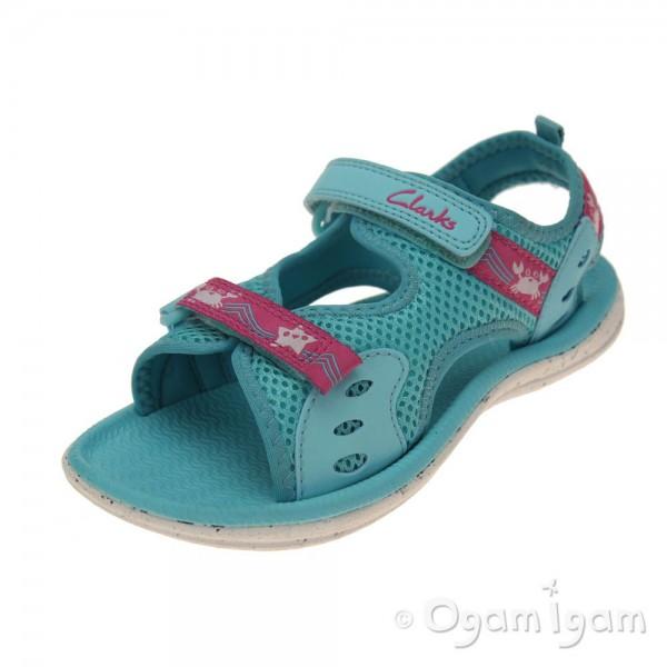 Clarks Star Games Inf Girls Turquoise Sandal