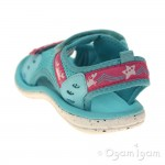 Clarks Star Games Inf Girls Turquoise Sandal