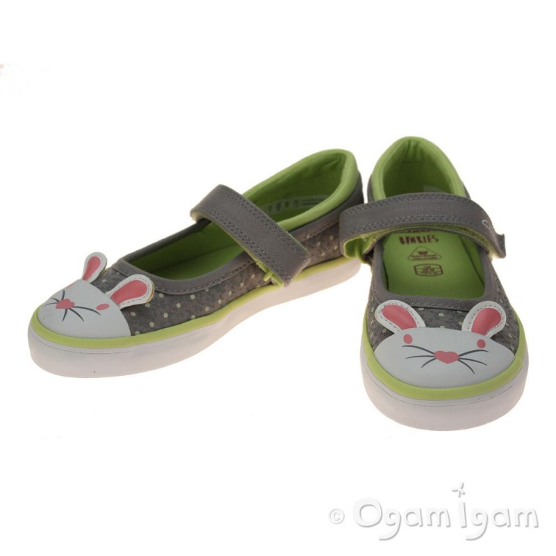 clarks gracietale inf grey canvas shoe ogam igam