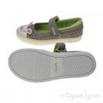 Clarks GracieTale Inf Girls Grey Canvas Shoe