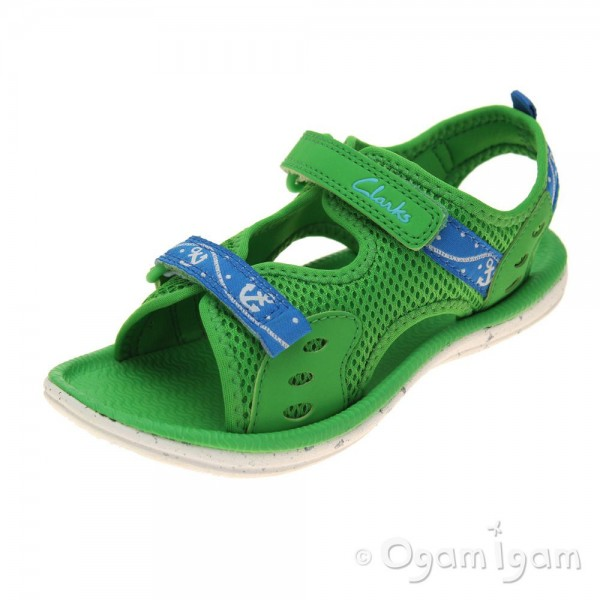 Clarks PiranhaBoy Inf Boys Green Sandal