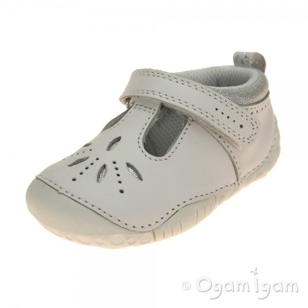 Start-rite Polly Infant Girls White Shoe