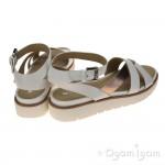 Geox Darlene Womens White/Rose Gold Sandal