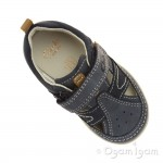 Clarks SoftlyLuke Fst Boys Navy Shoe