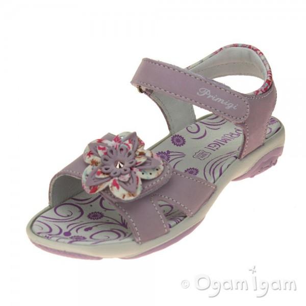 Primigi Dafne Girls Glicin Pan-rosa Sandal