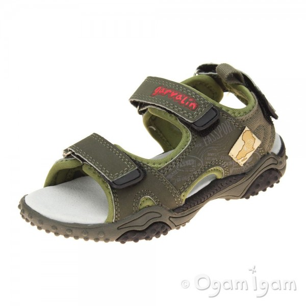 Garvalin 162811 Boys Green Sandal