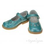 Start-rite Tamara Girls Aqua Patent Shoe