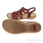 Rieker Womens Mohn/Wine Sandal 608B435