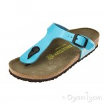 Birkenstock Gizeh Kids Girls Blue Sandal