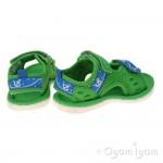 Clarks PiranhaBoy Fst Boys Green Sandal