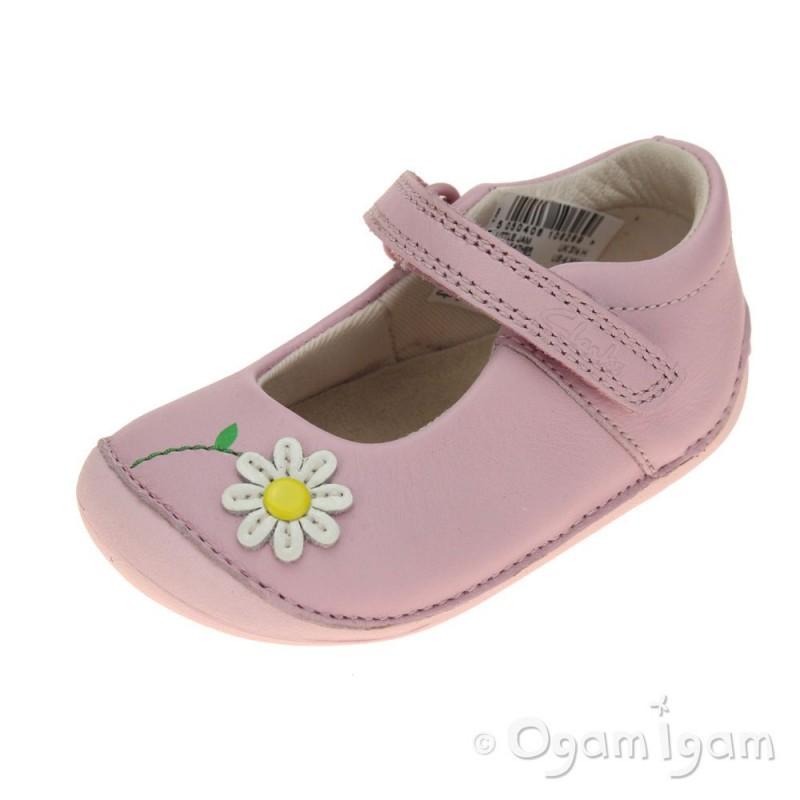 clarks jam infant pink shoe ogam igam