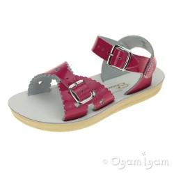 Salt-Water Sweetheart Girls Fuchsia Patent Sandal