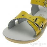 Salt-Water Sweetheart Girls Yellow Patent Sandal