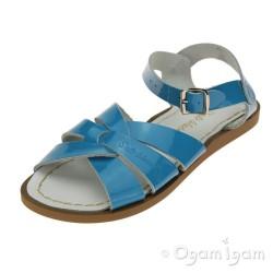 Salt-Water Original Girls Turquoise Patent Sandal