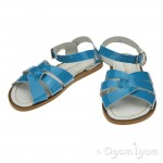 Salt-Water Original Girls Turquoise Patent Sandal