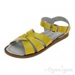 Salt-Water Original Girls Yellow Patent Sandal