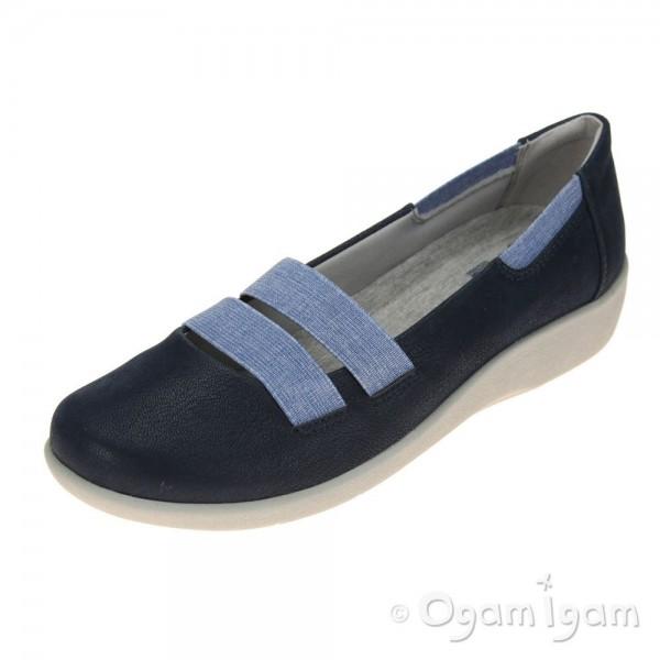 Clarks Sillian Rest Womens Navy Shoe
