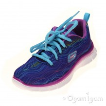 Skechers Skech Appeal Prancy Dance Girls Blue/Purple Trainer