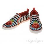 Primigi PMG Olli Girls White Black Canvas Shoe