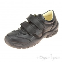 Primigi Ten Boys Black School Shoe