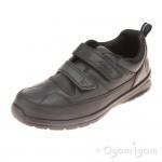 Clarks ReflectAce Jnr Boys Black School Shoe