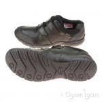 Clarks TraxFun GTX BL Boys Black School Shoe