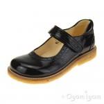 Angulus 3178 Mary Janes Girls Black Patent School Shoe