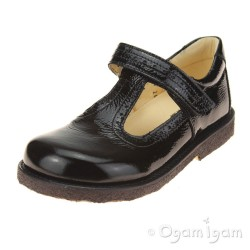 Angulus 3239 T-Bar Girls Black Patent School Shoe