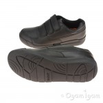 Clarks Monte Lite BL Boys Black School Shoe