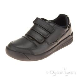 Clarks Flare Lite Inf Boys Black School Shoe