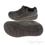 Clarks Flare Lite Inf Boys Black School Shoe