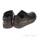 Clarks Flare Lite Jnr Boys Black School Shoe
