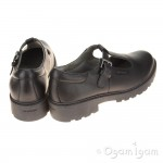 Geox Casey T-Bar Girls Black School Shoe