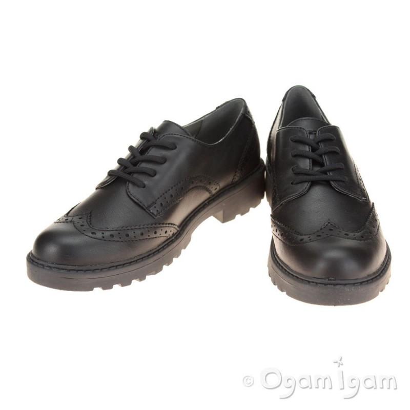 geox casey brogue black school shoe ogam igam