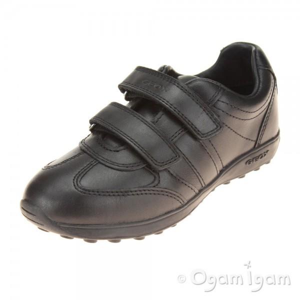 Geox Xitizen Boys / Girls Black School Shoe